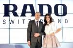Prezes firmy Rado, Matthias Breshan i Agnieszka Radwańska