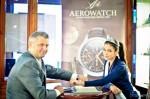 Magdalena Małochleb i Piotr Sobota z firmy Morwa (dystrybutor marki Aerowatch)