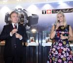 Francois Thiebaud, prezes marki Tissot i Agnieszka Ławniczak-Czajkowska, brand manger marki Tissot