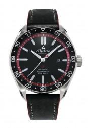 Alpina-Alpiner-4-Automatic-schwarzes-Zifferblatt-Lederband-AL-525BR5AQ6